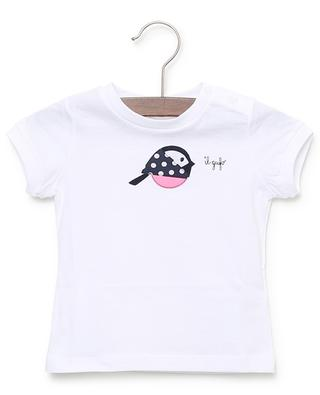 Bird embroidered cotton jersey T-shirt IL GUFO