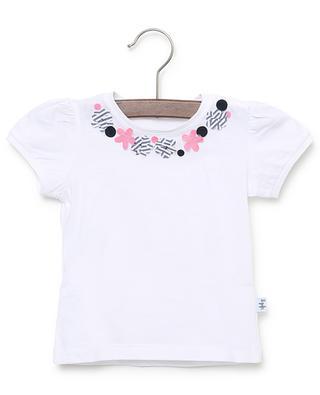 T-shirt en jersey fleurs appliquées IL GUFO