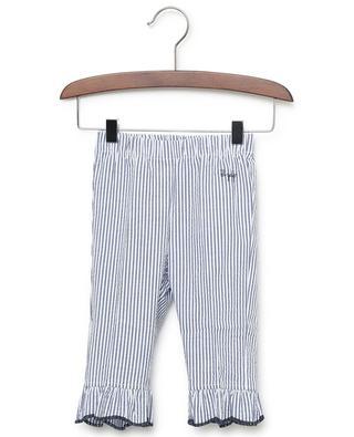 Pantalon en coton rayé à volants IL GUFO