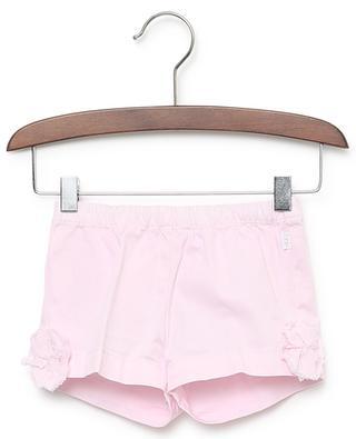 Shorts aus Baumwollstretch mit Blütenapplikationen IL GUFO