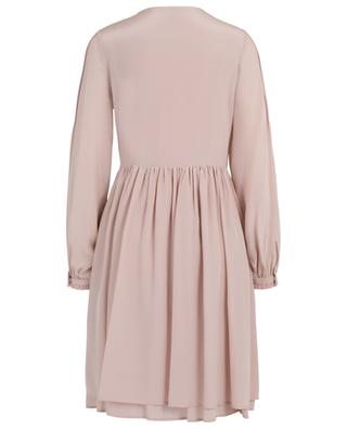 Midi-Kleid aus Seide mit Falten SLY 010