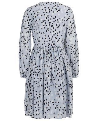 Kurzes Kleid aus Seide mit Print und Falten SLY 010