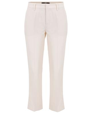 Crepe straight pleated trousers SLY 010