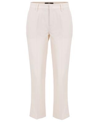 Pantalon droit plissé en crêpe SLY 010