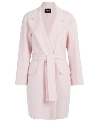 Wool and cashmere double face wrap coat SLY 010