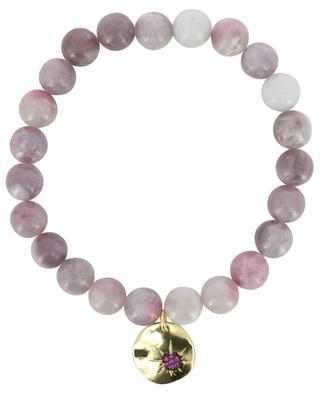Bracelet in pink stones with sun pendant MOON C° PARIS