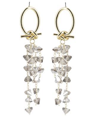 Long stud earrings with crystals MOON C° PARIS