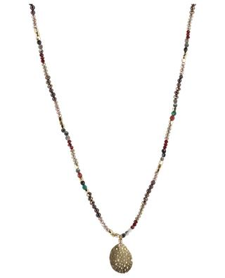Sautoir en perles scintillantes avec pendentif doré MOON C° PARIS