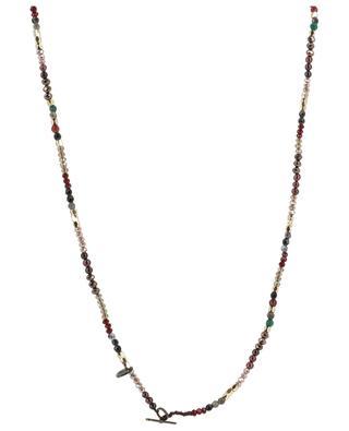 Halskette aus glitzernden Perlen mit goldenem Anhänger MOON C° PARIS