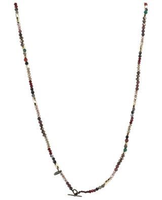 Glittering bead necklace with golden pendant MOON C° PARIS