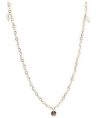 Golden necklace with baroque pearls MOON C° PARIS