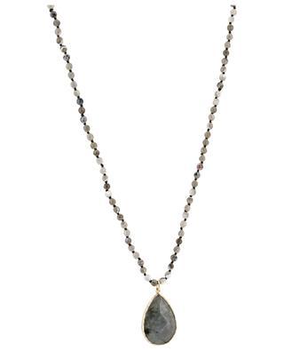 Stone necklace with labradorite pendant MOON C° PARIS