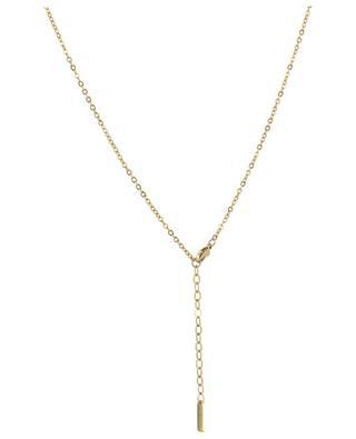 Golden necklace with stone pendants MOON C° PARIS