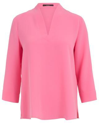 Bluse aus Krepp mit V-Ausschnitt WINDSOR