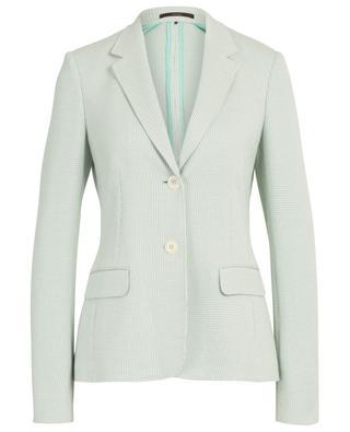 Houndstooth print cotton blazer WINDSOR