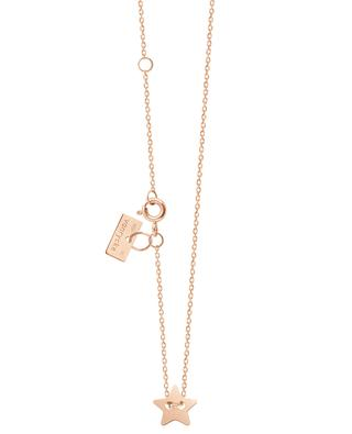 Little Miss Sunshine pink gold necklace with star VANRYCKE