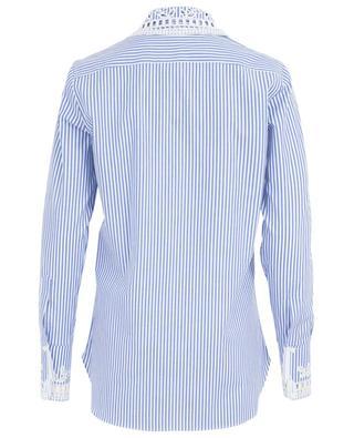 Gestreiftes Hemd aus Baumwolle mit Lochstickereien ERMANNO SCERVINO
