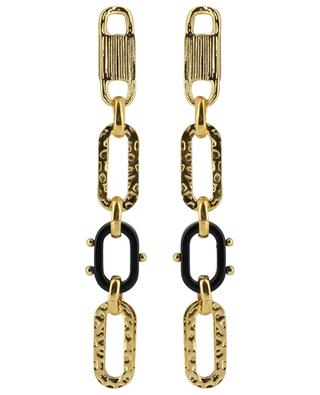Escale PM golden ear danglers with acetate GAS BIJOUX