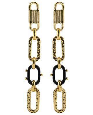 Boucles d'oreilles dorées pendantes avec acétate Escale PM GAS BIJOUX