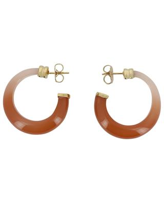 Abalone acetate and gold hoop earrings GAS BIJOUX
