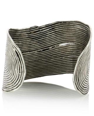 Wave Strass silver cuff with crystals GAS BIJOUX