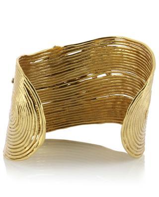 Wave Strass golden cuff with crystals GAS BIJOUX