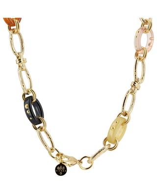 Escale Charms gold and acetate necklace GAS BIJOUX