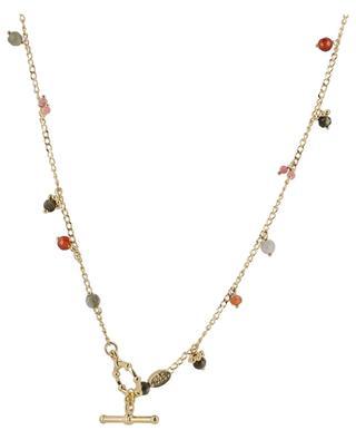 Collier doré avec pierres semi-précieuses Tangerine Serti GAS BIJOUX