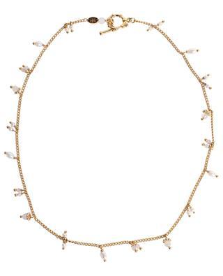 Goldene Halskette mit Halbedelsteinen Tangerine Serti GAS BIJOUX