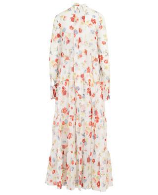 Floral print long silk dress ERMANNO SCERVINO