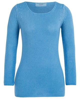 Lace logo embellished cashmere round neck jumper ERMANNO SCERVINO