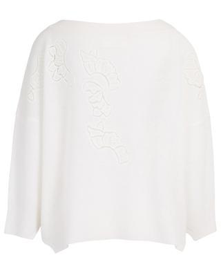 Lace effect floral embellished oversize jumper ERMANNO SCERVINO