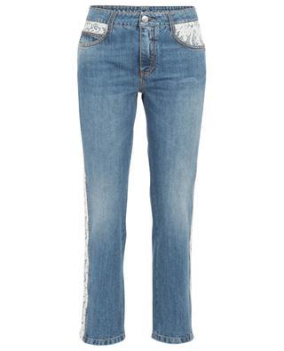 Lace adorned straight jeans ERMANNO SCERVINO