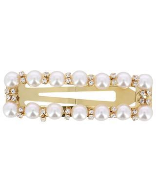 Rechteckige Haarspange mit Perlen und Strass Phoebe LOLLIPOP THE BRAND