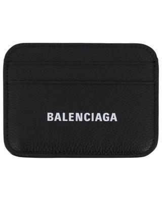 Cash grained leather logo print cardholder BALENCIAGA