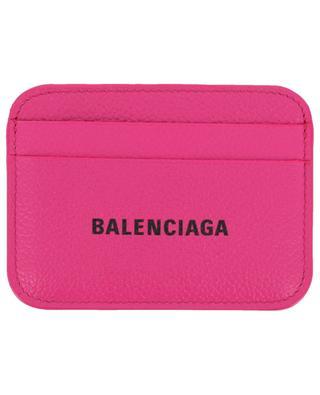 Cash logo print grainy leather cardholder BALENCIAGA