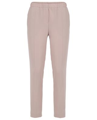 Skinny fit crepe trousers with elasticated waist SLY 010