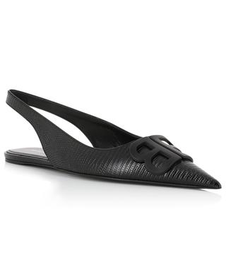 BB Sling-Back lizard effect leather ballet flats BALENCIAGA