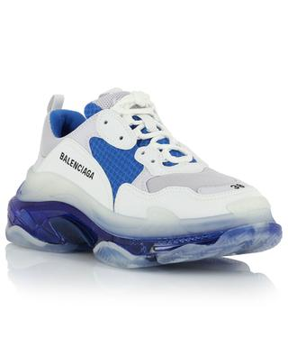 Triple S Clear Sole embroidered multi-material sneakers BALENCIAGA