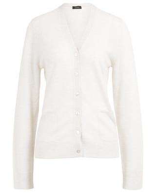 Button-down V-neck fine knit cardigan JOSEPH