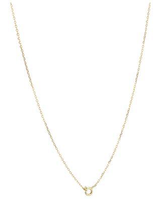 Clovis golden necklace with leaf pendant MONSIEUR PARIS