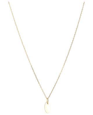 Hedda golden necklace with black diamond MONSIEUR PARIS