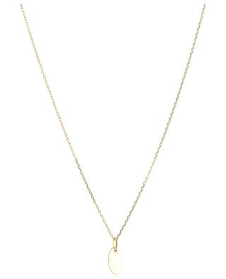 Collier doré avec diamant noir Hedda MONSIEUR PARIS
