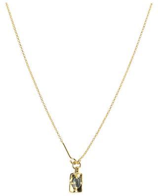 Oscar Tourmaline gold plated necklace with stone MONSIEUR PARIS