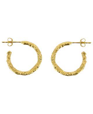 Marius textured golden hoop earrings MONSIEUR PARIS