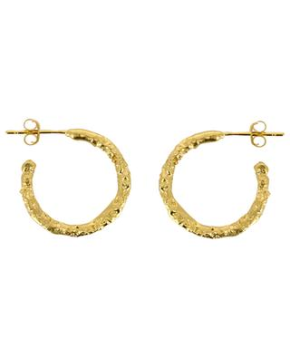 Marius textured golden hoop earrings MONSIEUR PARIS