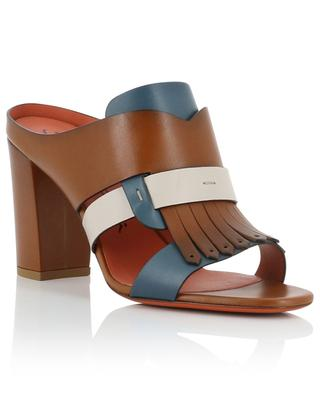High leather pumps with fringes SANTONI