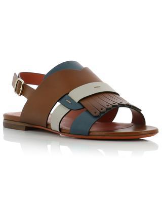 Flat leather sandals SANTONI