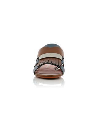 Flache Sandalen aus Leder SANTONI