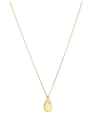 Rosalie golden necklace with white topaz MONSIEUR PARIS